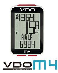 VDO(バーディオー) M4WL デジタルワイヤレス通信 ドイツブランド サイクルコンピューター 大画面表示 スピード+時間+距離+温度計+高度+勾配+バックライト機能付 ポルシェやメルセデスのスピードメーターを製造しているメーカーのサイクルコンピューター