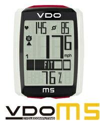 VDO(バーディオー) M5WL デジタルワイヤレス通信 ドイツブランド サイクルコンピューター 大画面表示 スピード+時間+距離+温度計+心拍数+カロリー消費+ケイデンス+バックライト機能付 ポルシェやメルセデスのスピードメーターを製造しているメーカーのサイクルコンピューター