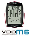 VDO(バーディオー) M6WL デジタルワイヤレス ドイツブランド サイクルコンピューター 大画面表示 スピード+時間+距離+温度計+高度+勾配+心拍数+カロ...