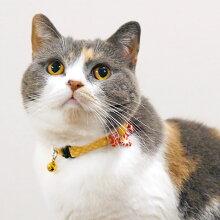 【猫】【首輪】iCatアイキャットラブリーカラー和花付き疋田二越ちりめん。商品画像3。