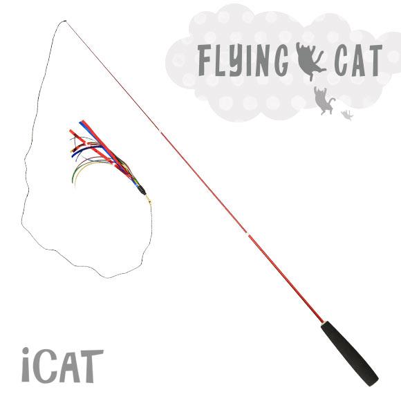 【30周年決算感謝SALE★40%OFF】【猫 おもちゃ】 iCat FLYING CAT 釣りざお猫じゃらし スパークルカラーテープ【猫用おもちゃ ペットグッズ ねこ ネコ 猫じゃらし 釣り竿 釣竿 ねこじゃらし】【猫のおもちゃ】【icat ido】