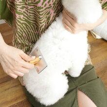【犬】【猫】【ブラシ】ローレンスソフトスリッカーブラシS。