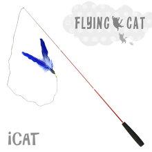 【猫】【おもちゃ】びよ〜んと伸びる振出式3本継ぎの釣りざお猫じゃらし