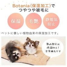 無地部分はBotania(保湿加工)でつやつや被毛に