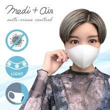 IDOG&ICATmedi+air抗ウイルススマートマスク2枚入。