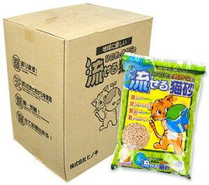 【 猫砂 トイレ 】ヒノキ 地球に優しい ひのきとおからの流せる猫砂 8L×7袋セット【 あす楽 翌日配送 】