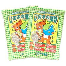 ヒノキ天然ひのきのねこ砂お徳用7L×2袋セット。パッケージ
