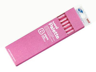 △【金箔】uni Palette(パレット) かきかた鉛筆2B 紙箱 ピンク