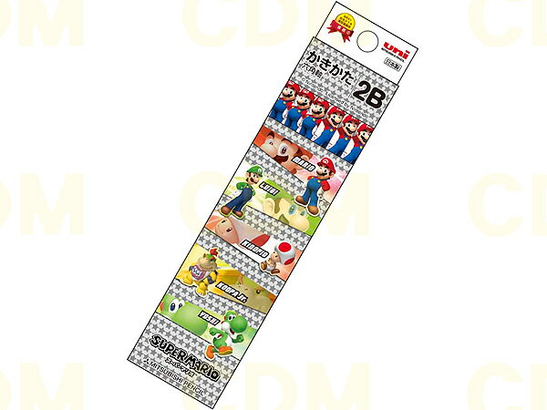 ○スーパーマリオ ブラック柄 かきかた鉛筆 紙箱 B