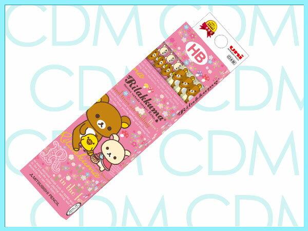 ■リラックマ フラワー かきかた鉛筆 六角軸 硬度HB 紙箱 ピンク 【zkanz】