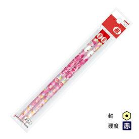 ◆三菱鉛筆 ハローキティ 赤鉛筆 六角軸 2本パック KTF ピンクスイートフラワー