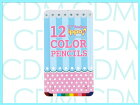 ■ippo(イッポ)【NEW】スライド缶入色鉛筆12色ファンシー