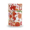 茶筒 茶缶 お茶を入れる缶 印刷缶 「はなおもい 赤 100g缶」 静岡茶の通販 沼津・市川園 05P06Aug16