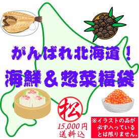 【送料込】がんばれ北海道!海鮮&惣菜福袋(松:15000円) 食品ロス フードロス