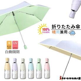 折りたたみ傘 ひんやり傘 晴雨兼用 ワンタッチ 自動開閉 撥水 軽量 折り畳み 傘 レディース 遮光 UVカット 日傘 雨傘 無地 通勤 通学 可愛い コンパクト