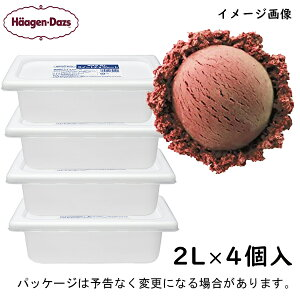 【HD】ハーゲンダッツ 業務用 スイートチョコレート 2L×4個(2000ml×4入) ケース販売 北海道沖縄離島は配送料追加