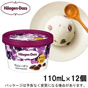 【新発売】【HD】ハーゲンダッツ ミニカップ ラムレーズン 110ml×12個