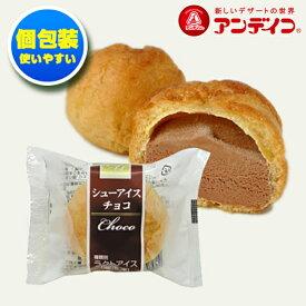 【業務用】アンデイコ シューアイス チョコ 約27g × 90入 栄屋乳業 冷凍シューアイス