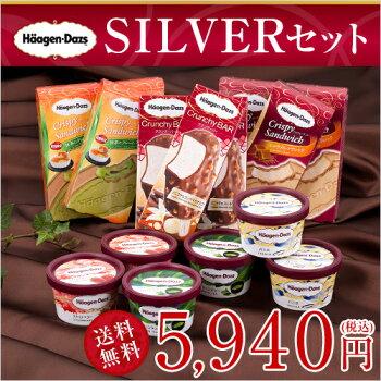 ハーゲンダッツアイスクリームSILVERセット(6種・15個入り)(新パッケージ)(ラッピング付)(送料込)