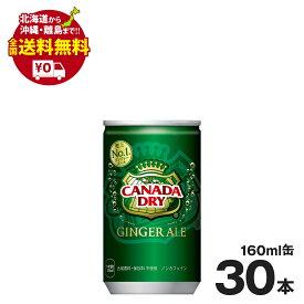 カナダドライジンジャーエール 160ml缶 30本セット