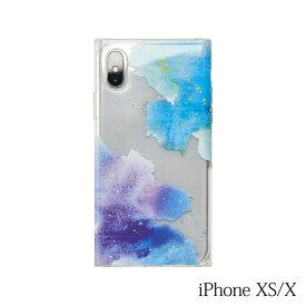 【iPhoneXS/X ケース】Smart Labo MAELYS LOUNA(マエリスルーナ)Louna Collections watercolor for iPhoneXS/X (night) LCw-03287-ni