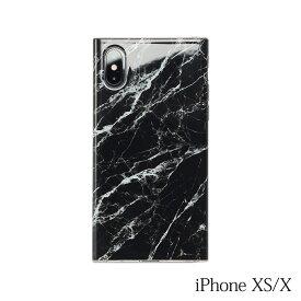 【iPhoneXS/X ケース】Smart Labo MAELYS LOUNA(マエリスルーナ)Maelys Collections Marble for iPhoneXS/X (Black) MC-03317-Bl