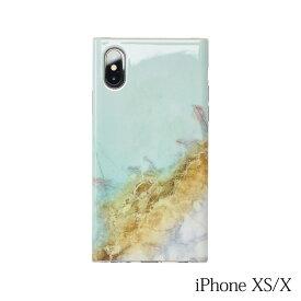【iPhoneXS/X ケース】Smart Labo MAELYS LOUNA(マエリスルーナ)Maelys Collections Marble for iPhoneXS/X (Mint) MCM-03300-Mi