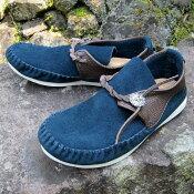 モカシンラコタネイビー靴シューズレザー革