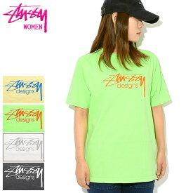 ステューシー STUSSY Tシャツ 半袖 レディース WOMEN Stussy Designs Pigment Dyed(stussy tee ピグメント ティーシャツ カットソー トップス ガールズ ウーマンズ ウィメンズ Ladys 2902964 USAモデル 正規 品 ストゥーシー スチューシー)[M便 1/1]