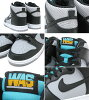 Nike NIKE dunk Hi Wolf Grey/Black/Turquoise Blue Washington limited edition men's (men's) (nike DUNK HIGH WASHINGTON ICONS 317982-047) ice filed icefield