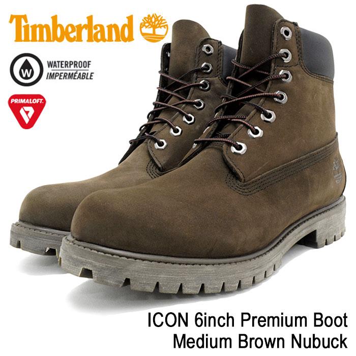 【日本正規品】ティンバーランド Timberland ブーツ メンズ アイコン 6インチ プレミアム ミディアム ブラウン ヌバック(timberland 10001 ICON 6inch Premium Boot Medium Brown Nubuck 防水 シックスインチ 男性 紳士用 MENS・靴 メンズ靴) ice filed icefield