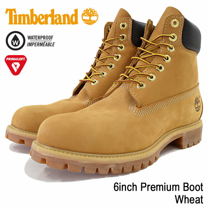 ティンバーランド Timberland ブーツ 6インチ プレミアム ウィートヌバック(ティンバーランド timberland TIMBERLAND ティンバ 10061 6inch Boot Wheat イエロー 防水 定番 メンズ・靴 MENS ティンバーランド ティンバー)