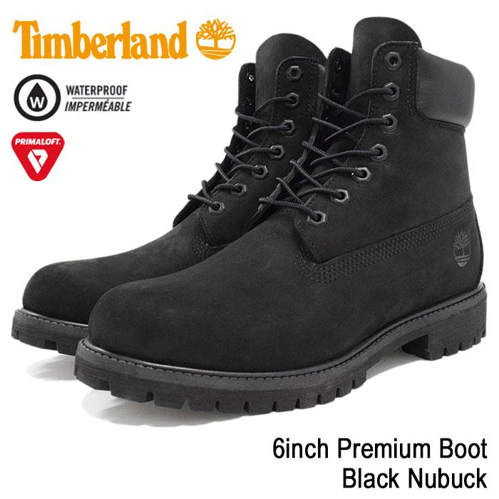 【日本正規品】ティンバーランド Timberland ブーツ 6インチ プレミアム ブラックヌバック(ティンバーランド timberland TIMBERLAND ティンバ 10073 6inch Boot Black 黒 防水 定番 メンズ・靴 MENS ティンバーランド ティンバー)