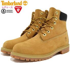 【日本正規品】ティンバーランド Timberland ジュニア 6インチ プレミアム ウィートヌバック ブーツ レディース(女性用) (timberland Junior 12909 6inch Premium Boot Wheat イエロー 防水 定番 TIMBERLAND WOMENS timberland)