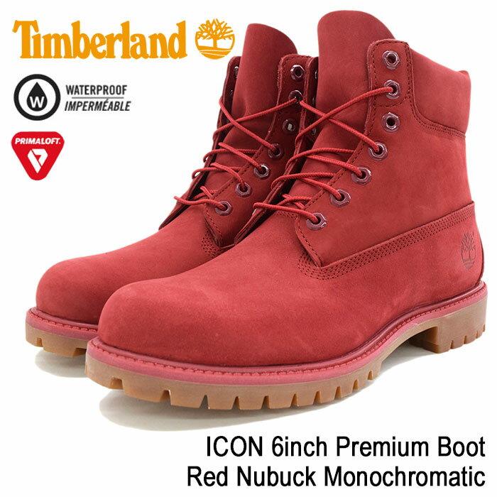 【日本正規品】ティンバーランド Timberland ブーツ メンズ 男性用 アイコン 6インチ プレミアム Red Nubuck Monochromatic(timberland A1149 ICON 6inch Premium Boot レッド 赤 防水 シックスインチ 男性 紳士用 MENS・靴 メンズ靴) ice filed icefield