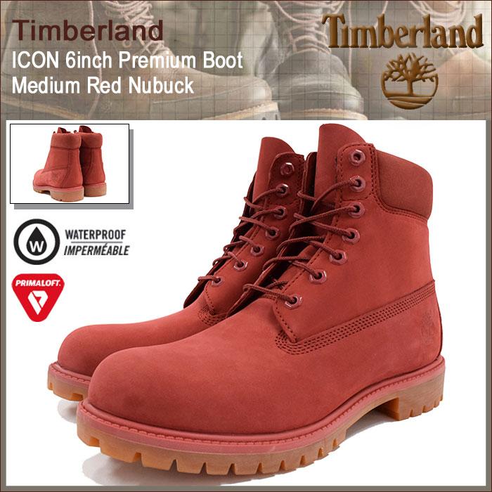 【日本正規品】ティンバーランド Timberland ブーツ メンズ アイコン 6インチ プレミアム ミディアム レッド ヌバック(timberland A1FXW ICON 6inch Premium Boot Medium Red Nubuck 防水 シックスインチ 男性 紳士用 MENS・靴 メンズ靴) ice filed icefield