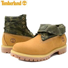 【日本正規品】ティンバーランド Timberland ブーツ メンズ シングル ロールトップ Wheat Nubuck With Camo Textile ( timberland A1QY4 SINGLE ROLL TOP 2Way ウィート ヌバック BOOT BOOTS 男性用 紳士用 MENS・靴 メンズ靴 )
