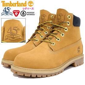 【日本正規品】ティンバーランド Timberland ブーツ キッズモデル レディース対応サイズ ジュニア 6インチ プレミアム Wheat Nubuck(timberland A1VE5 Junior 6inch Premium Boot 45th Anniversary 45周年 ウィート 防水 女性用 レディース靴)