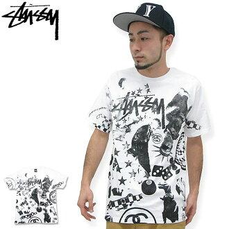 Stussy STUSSY 经典拼贴 T 恤短袖子 (stussy tee t 恤衫 t 恤上衣男装,男装 1903221 Stussy stussy Stussy Steacy) 冰提起冰原
