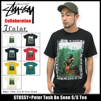 suteyushi STUSSY×Peter Tosh Be Seen T恤短袖协作(供stussy tee T恤T-SHIRTS顶端Peter Tosh W姓名人、男性使用的3902579 Stussy stussy二海洋朱熹)ice filed icefield
