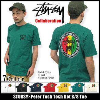 Stussy STUSSY × 彼得 Tosh Tosh 点 T 恤短袖协作 (stussy tee t 恤衫 t 恤上衣名称男人彼得 Tosh W 3902581 Stussy stussy Stussy Steacy) 冰提起冰原