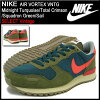 Men Nike NIKE sneakers air Vortex vintage Midnight Turquoise/Total Crimson/Squadron Green/Sail limited's (men's) (nike AIR VORTEX VNTG SELECT Vintage Sneaker sneaker SNEAKER MENS-shoes shoes SHOES sneaker 429773-383) ice filed icefield