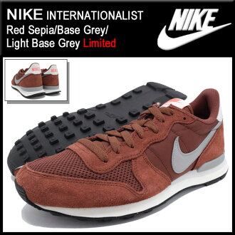 耐克NIKE运动鞋国际主义者Red Sepia/Base Grey/Light Base Grey限定人(男性用)(nike INTERNATIONALIST Limited Sneaker MENS、鞋鞋SHOES运动鞋631754-201)ice filed icefield