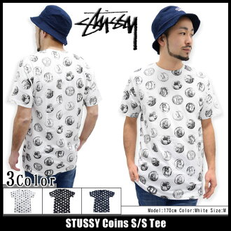 Stussy 硬币 t 恤 STUSSY (stussy tee t 恤衫 t 恤上衣男装,男装 1903497 Stussy stussy Stussy steussie) 冰提起冰原