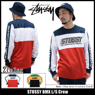 Stussy STUSSY 小轮车的长袖的衬衫 (stussy 船员衬衫男装,男装 114768 Stussy stussy Stussy Steacy) 冰提起冰原