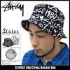 Stussy STUSSY Big Cities Bucket hat (hat stussy Stussy HAT Hat mens, men's hats bousi 132609 Stussy stussy Stussy Steacy) ice filed icefield
