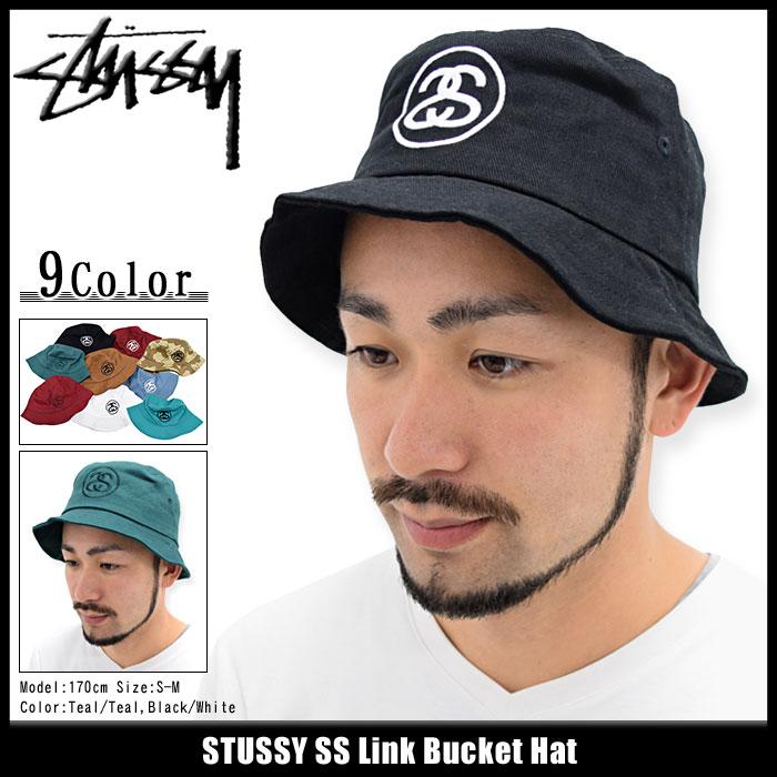 ステューシー STUSSY バケット ハット SS Link Bucket Hat 帽子(stussyhat メンズ・男性用 132754 132726 132719 USAモデル 正規 品 ストゥーシー スチューシー) ice filed icefield