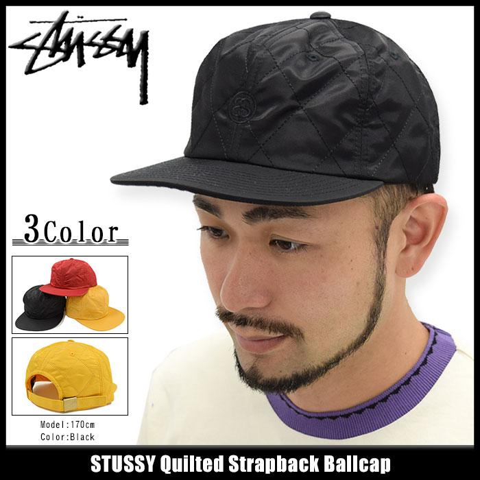 ステューシー STUSSY キャップ 帽子 Quilted Strapback Cap(ストラップバック メンズ・男性用 131623 USAモデル 正規 品 ストゥーシー スチューシー)