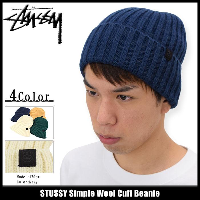 ステューシー STUSSY ニット帽 Simple Wool Cuff(stussy beanie ビーニー 帽子 ニットキャップ メンズ・男性用 132795 USAモデル 正規 品 ストゥーシー スチューシー)