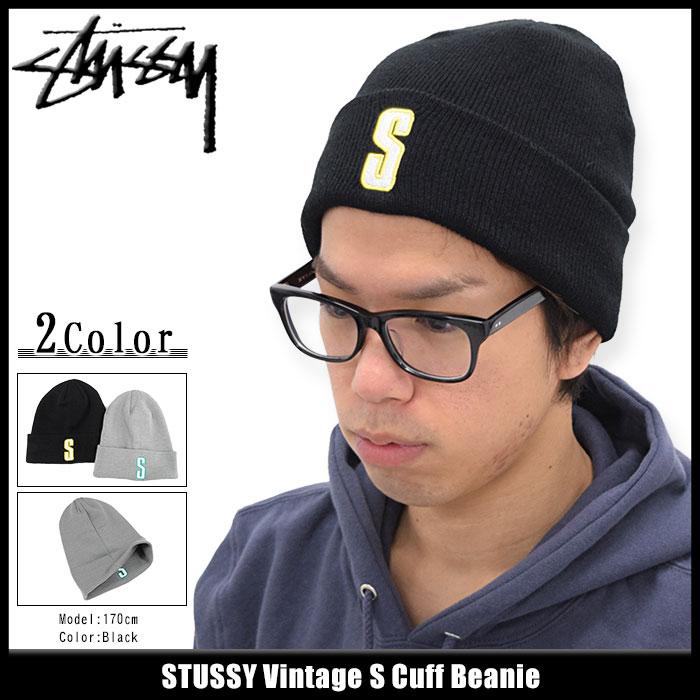 ステューシー STUSSY ニット帽 Vintage S Cuff(stussy beanie ビーニー 帽子 ニットキャップ メンズ・男性用 132818 USAモデル 正規 品 ストゥーシー スチューシー)